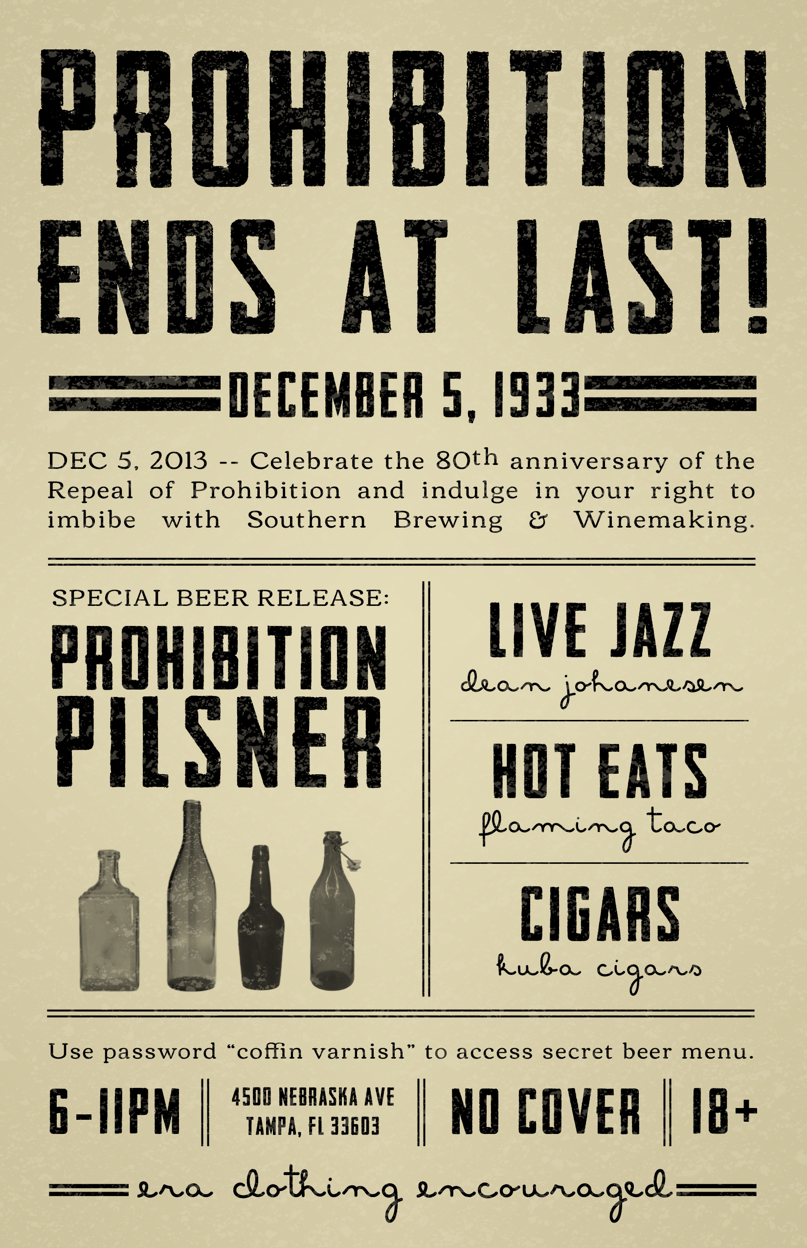 prohibition 1920 essay Following the year 1919 came a decade of corruption and many changes in the  way people lived for a while in the united states people lived as though their.