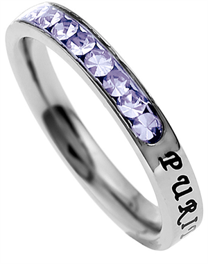 Princess Cut Purity Birth Stone Ring June - Great Christian Rings for $25.95