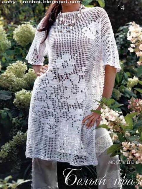 Beautiful Filet Crochet Pattern Vestidos Pinterest Crochet