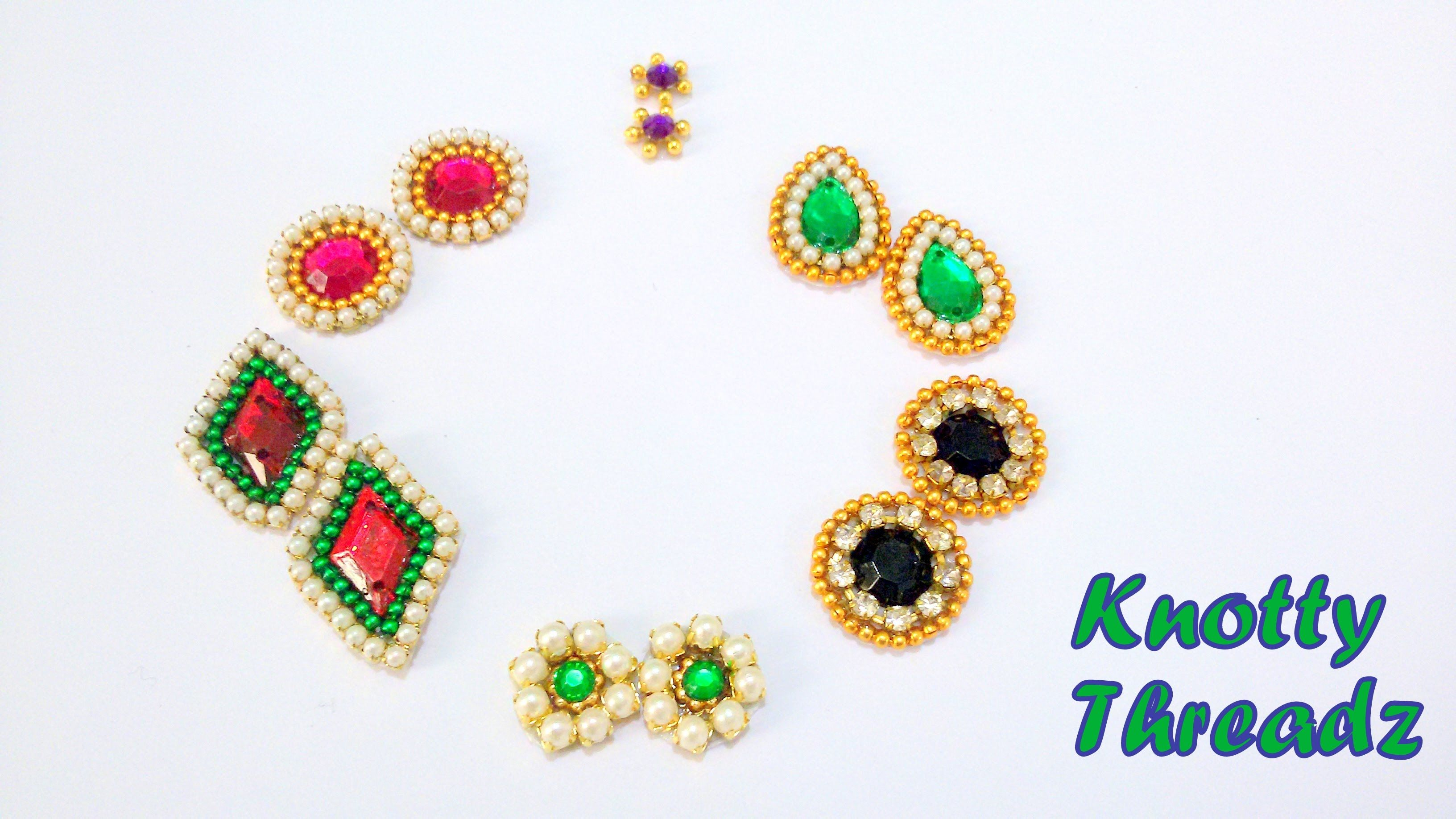 8d56660a6 How to make Earring Studs / Patches at Home | Tutorial !! | Patches ...