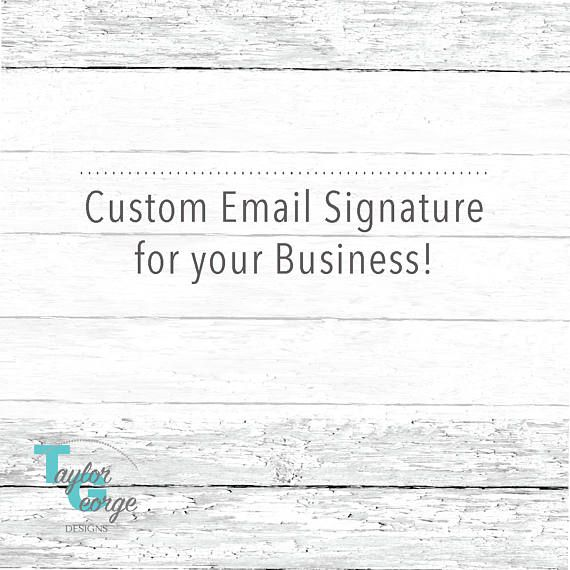 Custom Email Footer Template for your Business - Custom Email - email survey template