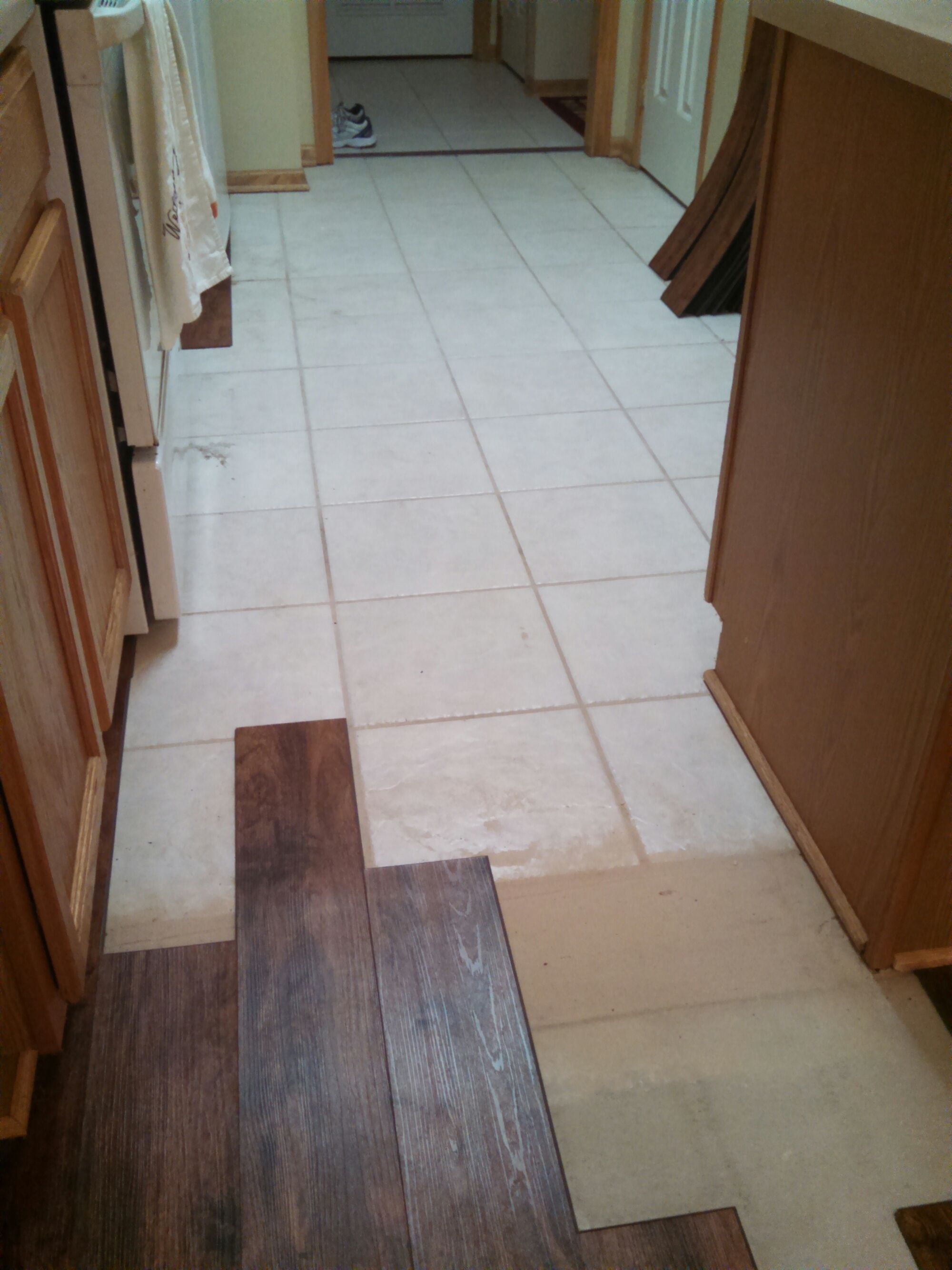 Install Laminate Flooring Over Ceramic Tile. Feels free to
