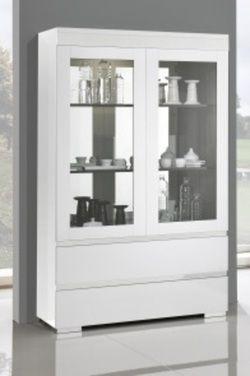 argentier vaisselier design lucia 2 portes 2 tiroirs. Black Bedroom Furniture Sets. Home Design Ideas