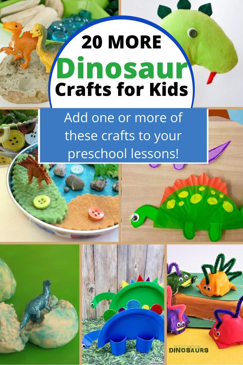 25 Ideas for Easy Dinosaur Crafts for Preschoolers in 2020 ...