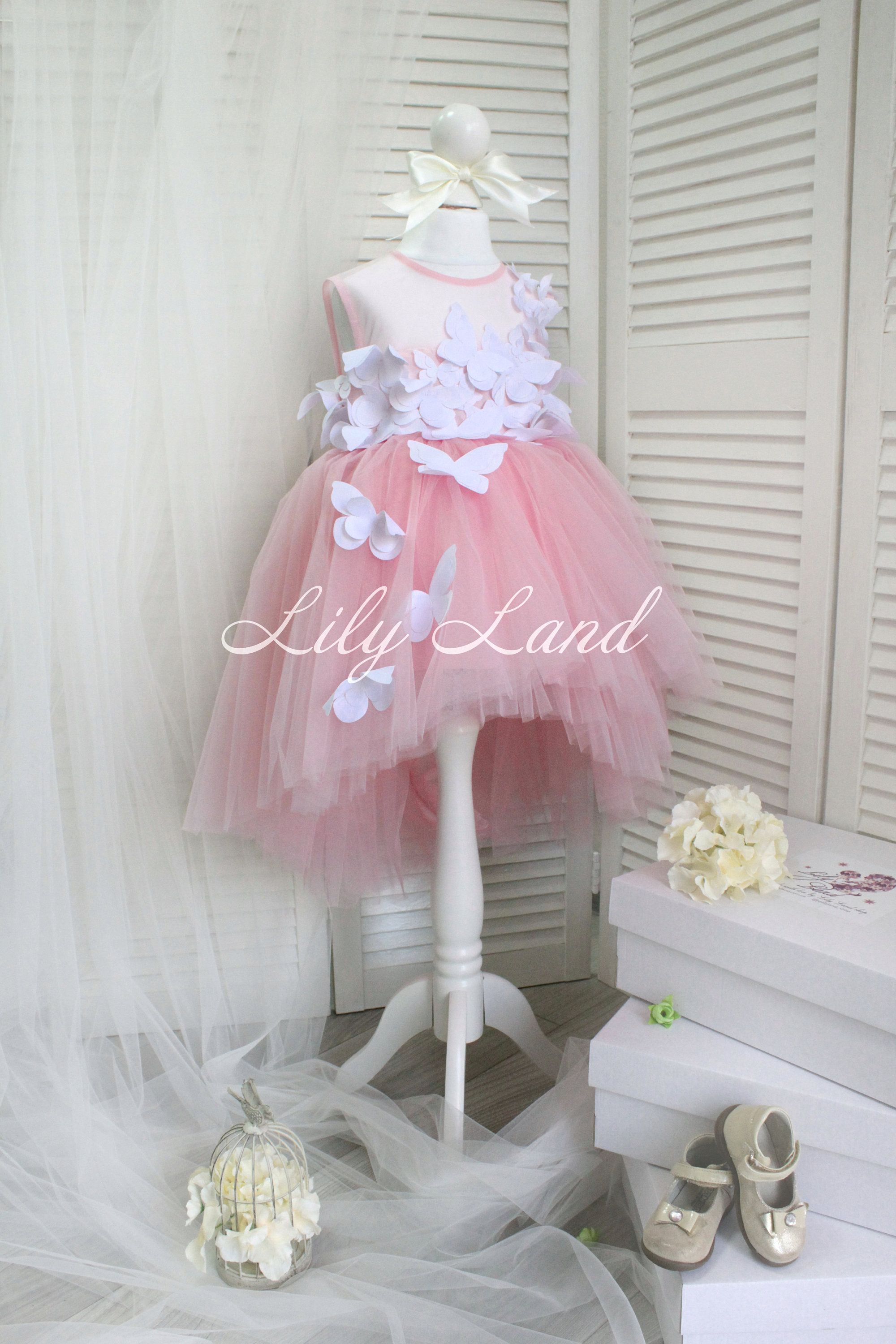 29b9e403e Pink girl Dress 3D butterfly dress dress for baby toddler pink dress ...