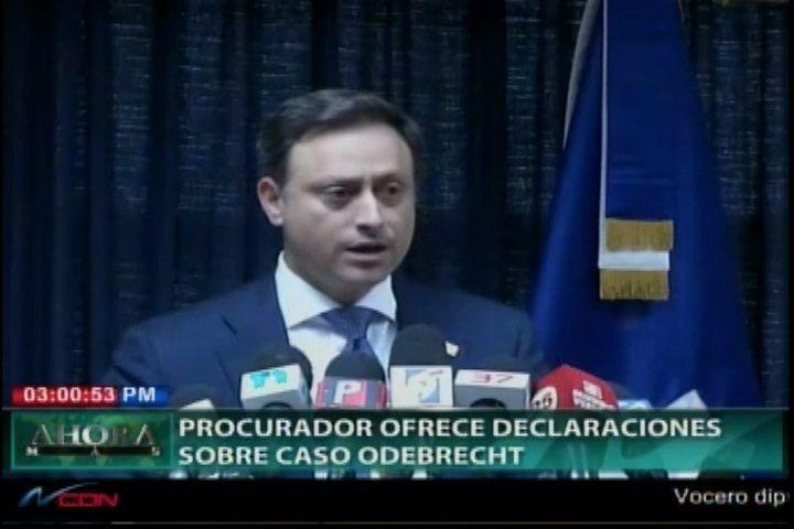Las Nuevas Declaraciones Del Procurador Sobre El Caso Odebrecht