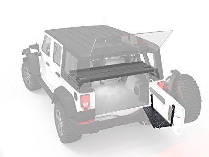 Black Metal Porta Posteriore Utility Cargo Mensola Scaffale Per Jeep Wrangler Jk 2007 2017