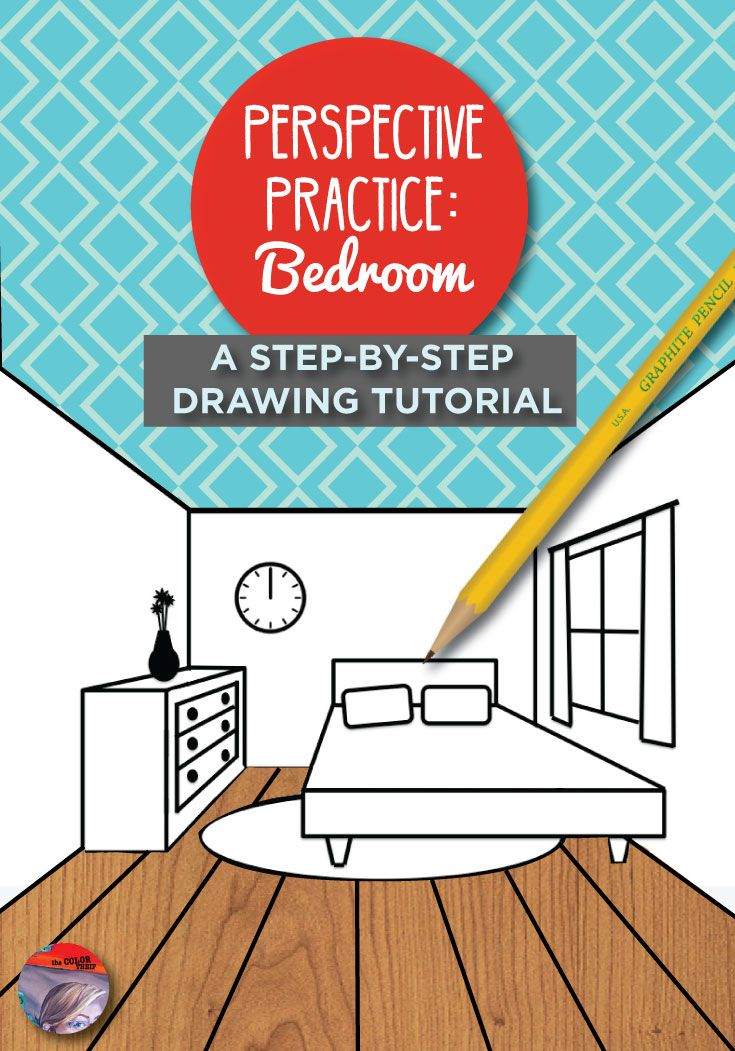 how to draw perspective bedroom