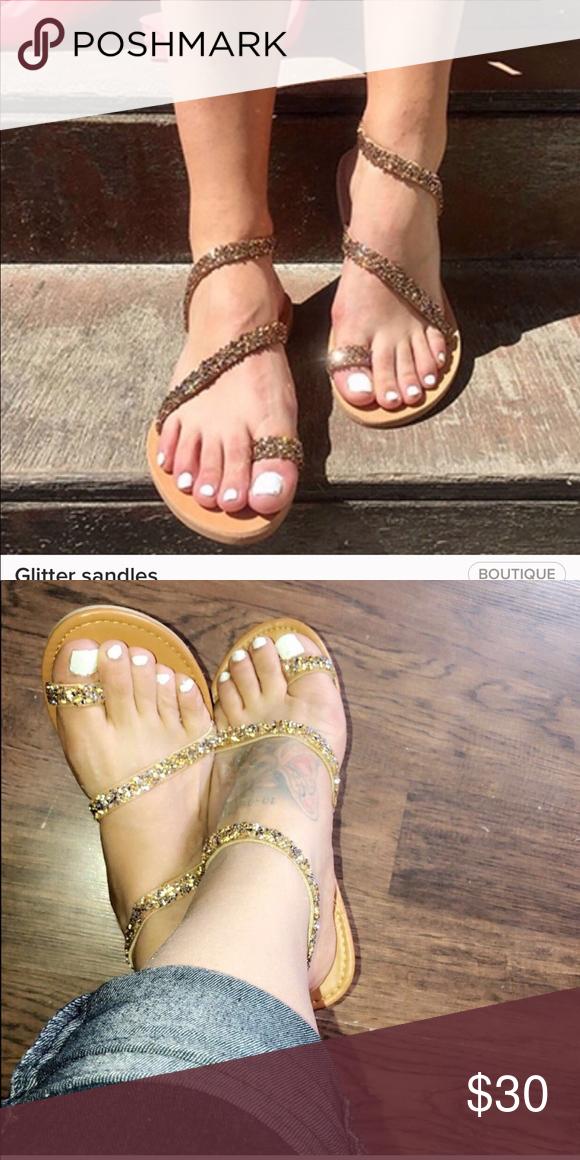 Glitter Sandler's   Wide feet shoes