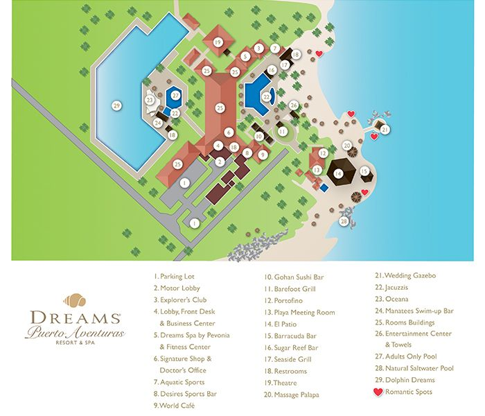dreams puerto aventuras resort map unlimited vacation club
