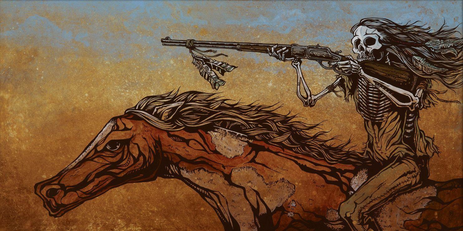 Картинки ковбой скелет