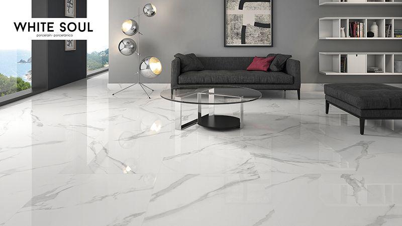 White Soul 60x60 Porcelain Tile Floor Living Room Living Room Tiles House Flooring