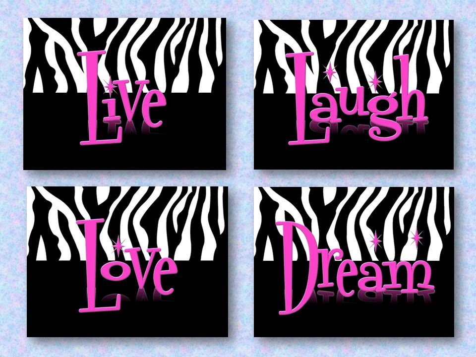 Live Laugh Love Dream Wall Art Decor