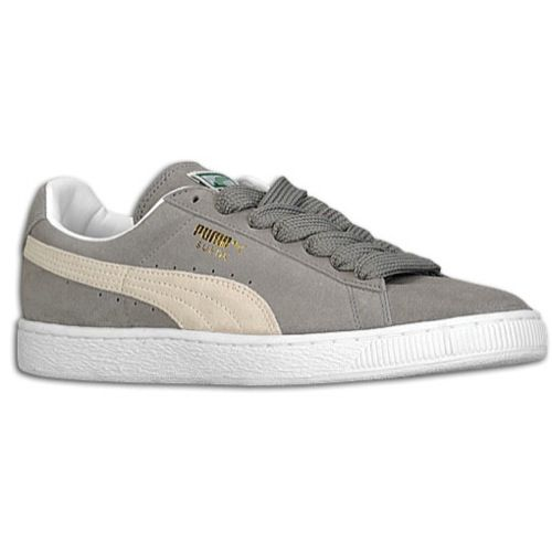grey suede puma sneakers