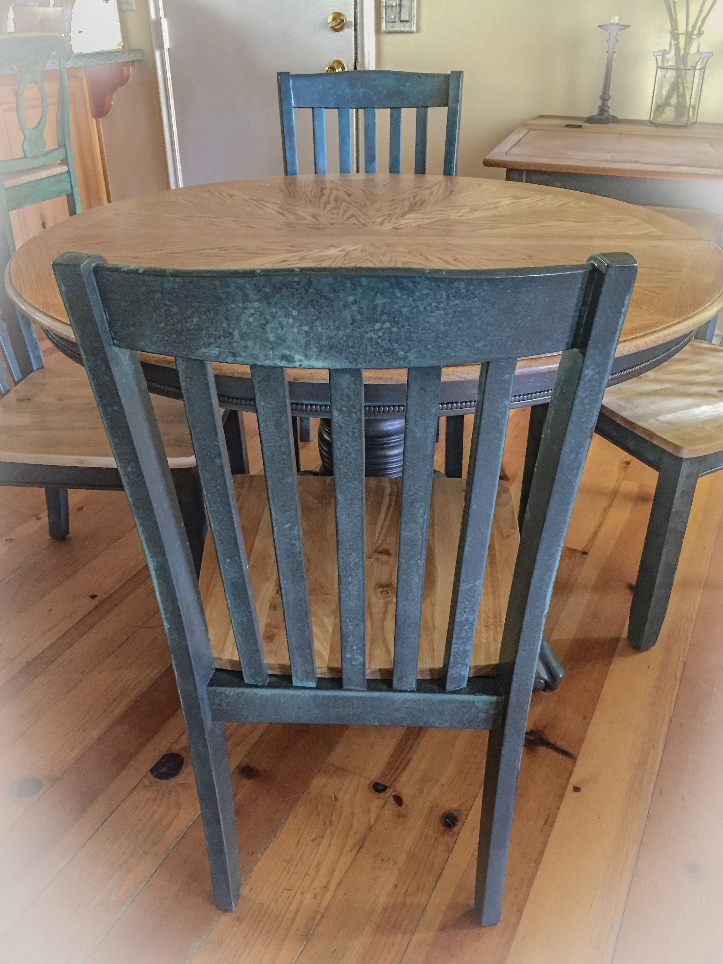 Farmhouse Kitchen Table And Chairs, W Matching, Extension Leaf, Dining