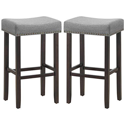 Ayamastro 29 5 Inch Height 2pieces Wood Frame Bar Stool Backless