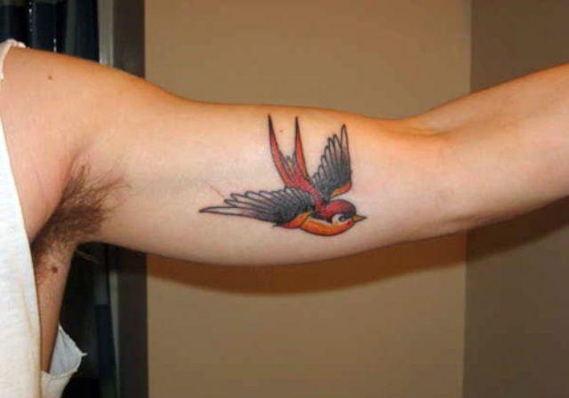 Mehndi Nape Tattoo : Sparrow bicep tattoos henna mehndi designs