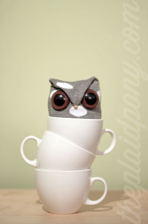 Tea Cup Sock Owl! | toys | Pinterest | Tea cup, Owl and Socks