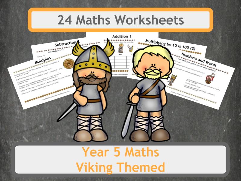 Viking Themed Maths Worksheet - Year 5 | Math addition, Math ...