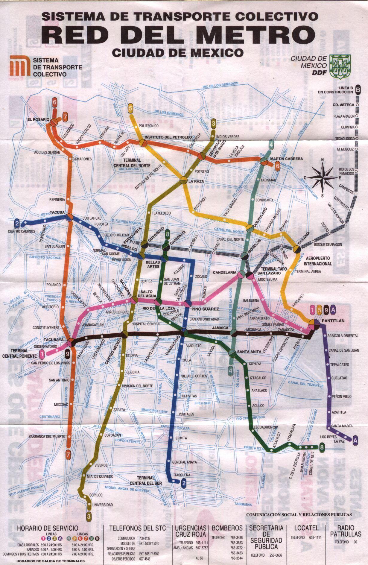 Mexico City Subway Map Metro Ciudad De Mexico Metro De La Cdmx Mapa Del Metro