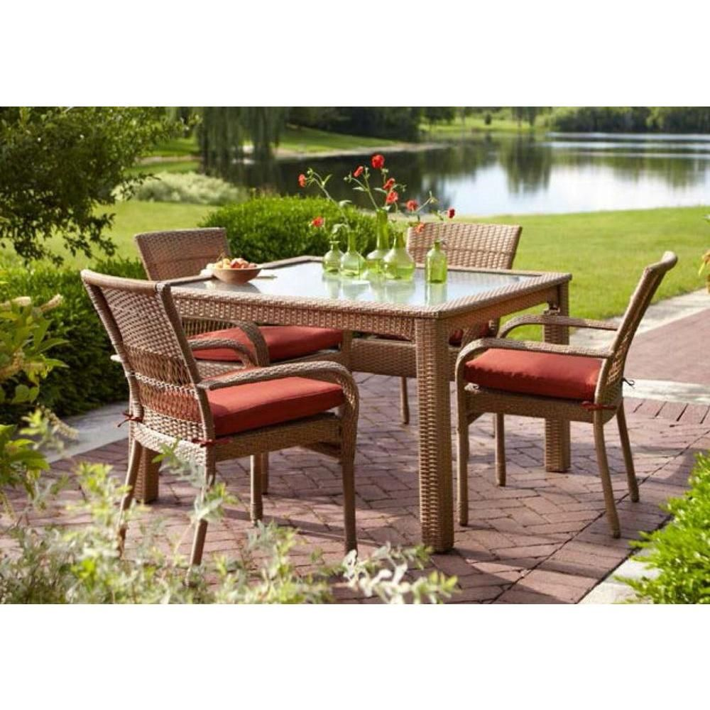 Martha Stewart Living Charlottetown Natural All-Weather ... on Martha Stewart 6 Piece Patio Set id=51484