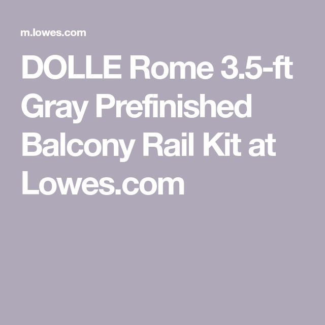 Best Dolle Rome 3 5 Ft Gray Prefinished Balcony Rail Kit At 400 x 300