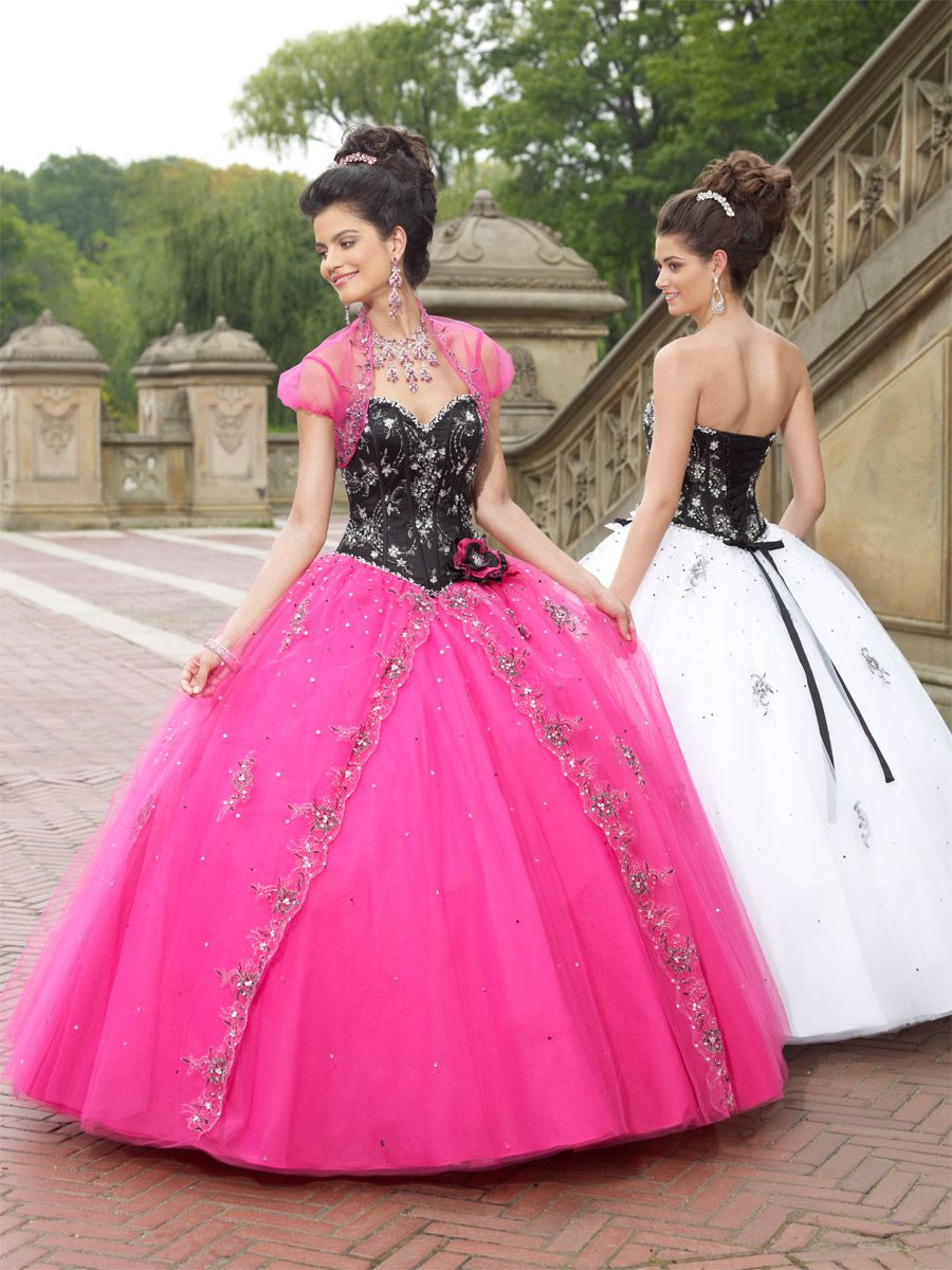 Vizcaya by Mori Lee 87067 / cerise/black | Quinceañera Dresses ...