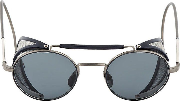 3d86d070ab79 Thom Browne Grey & Navy TB-001 Cage Sunglasses on shopstyle.com ...