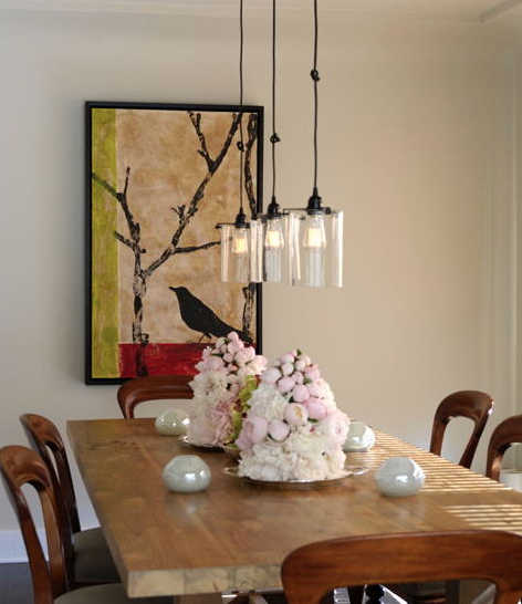 Edison Bulb Chandelier Traditional Dining RoomsModern