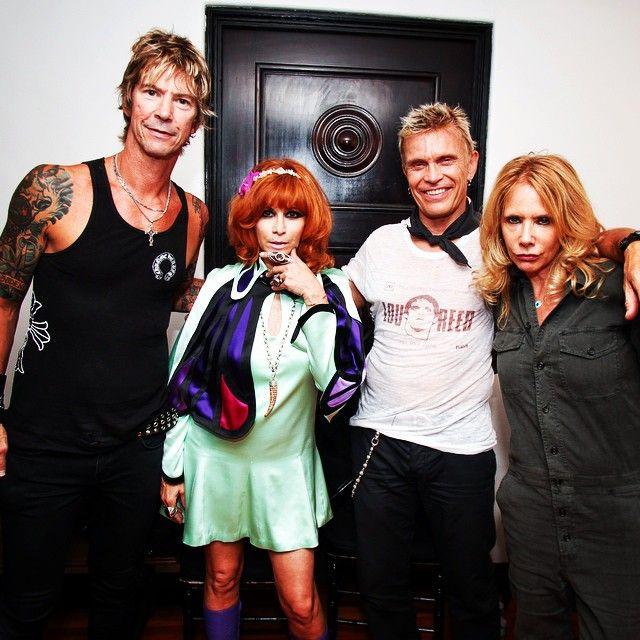 Linda Ramone  — #johnnyramonetribute with my pals @DuffMckagan ...