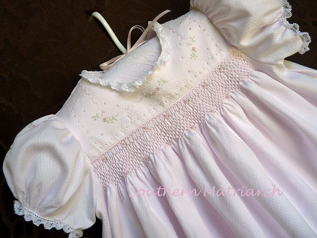 26d7acef66f08 Smocked Baby Dress | Flickr - Photo Sharing! Old Fashioned Baby pattern  close up - Emma's Smocked Baby Dresses