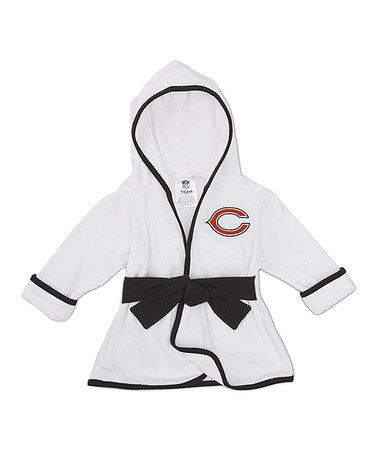 Take a look at this White Chicago Bears Robe - Infant by NFL on #zulily today!