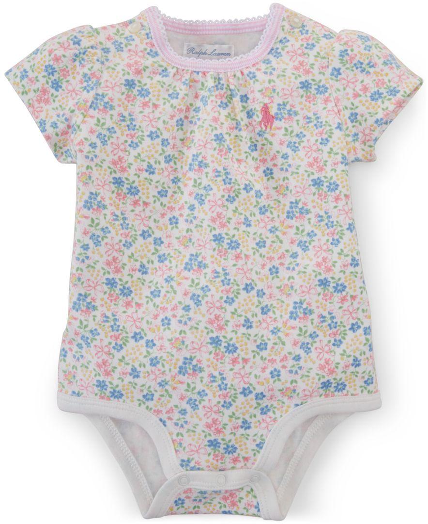 Polo Ralph Lauren Baby Girls' Floral Print Bodysuit