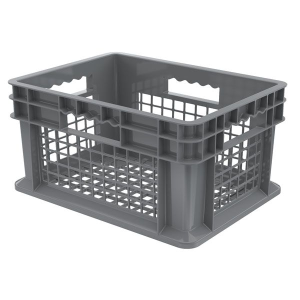 15 3 4 X 11 3 4 Mesh Sided Storage Container Plastic Stackable Bins Wood Storage Cabinets Ikea Storage Cabinets