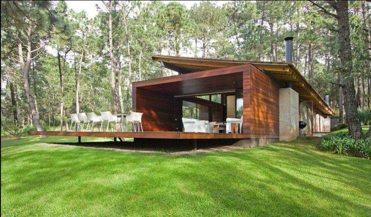 Casa moderna con porche de madera casas pinterest - Casas con porches de madera ...