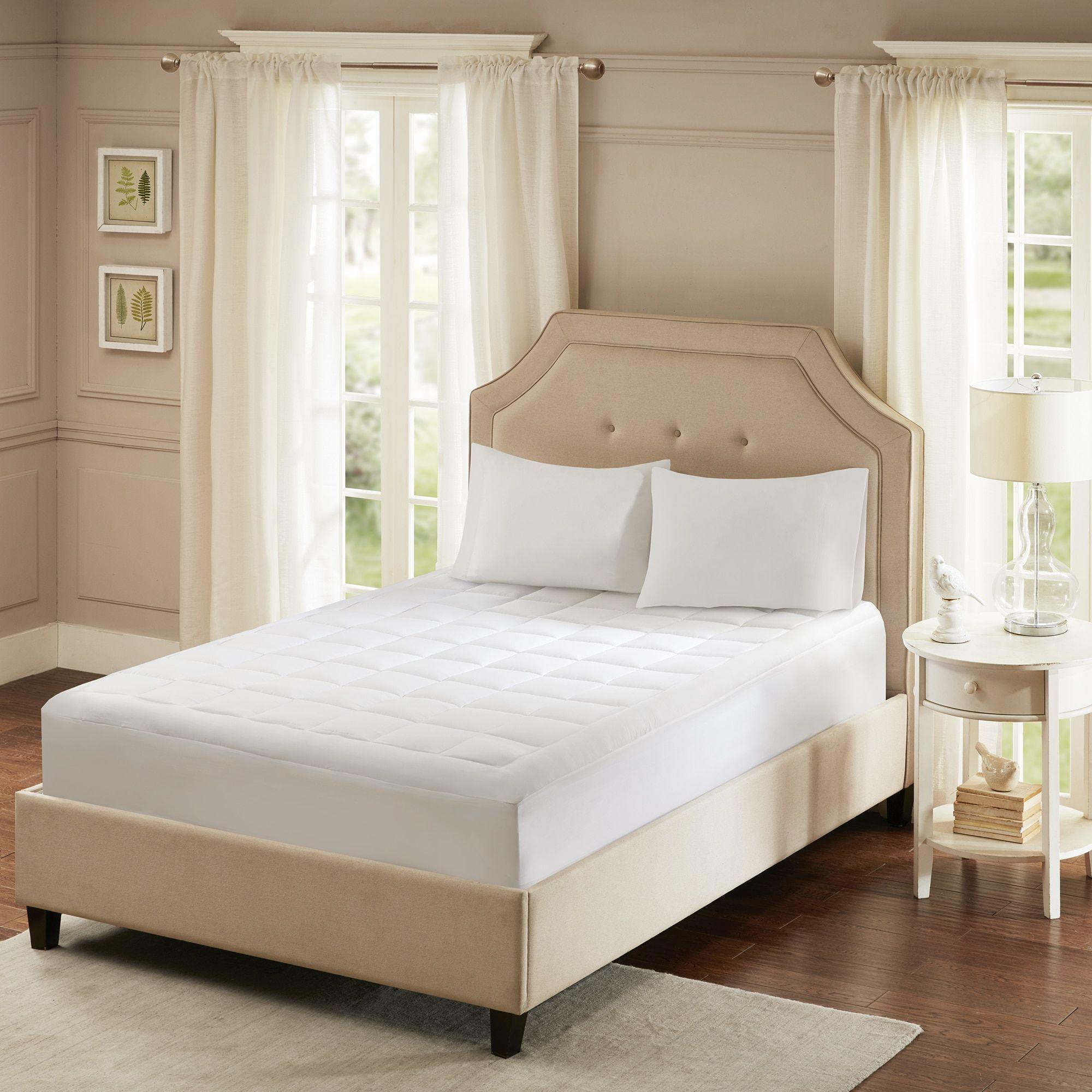 Smart cool by sleep philosophy microfiber white coolmax mattress pad