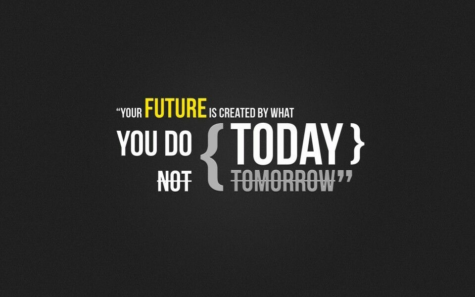 Your future is created by what