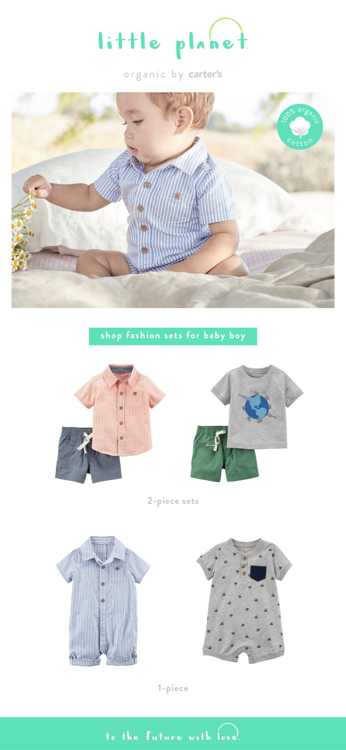 ff15e330a Shop baby boy easy outfit sets in 100% organic cotton.