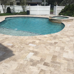 123 Reference Of Best Pool Patio Pavers In 2020 Travertine Pool Decking Travertine Pool Swimming Pool Decks