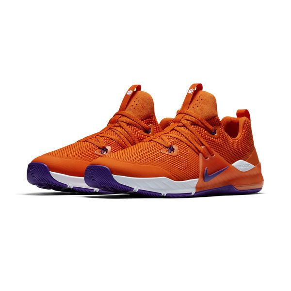 738a37d1ff5b Clemson Tigers Nike Zoom Train Command College Shoes – Orange Purple ...