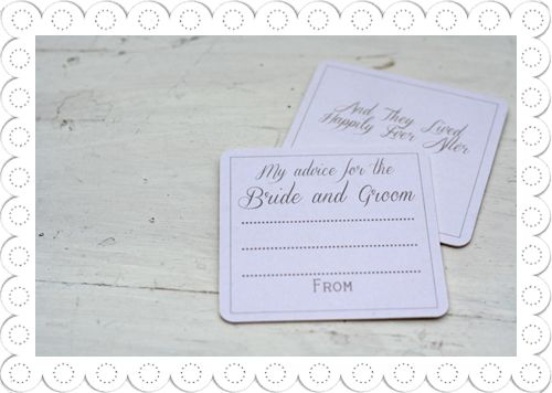 My Advice For The Bride And Groom Alternative Wedding Guest Book