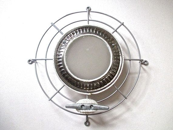 Nautical Mirror Industrial Fan Grill Boat Cleat by searchnrescue2