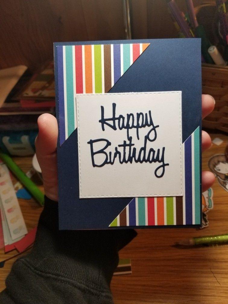 Handmade Birthday Cards For Men Birthday Card Birthday Cards For Men Happy Birthday Cards Diy Kids Birthday Cards