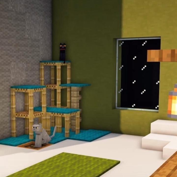 Minecraft | Modern Livingroom (for cats) Interior