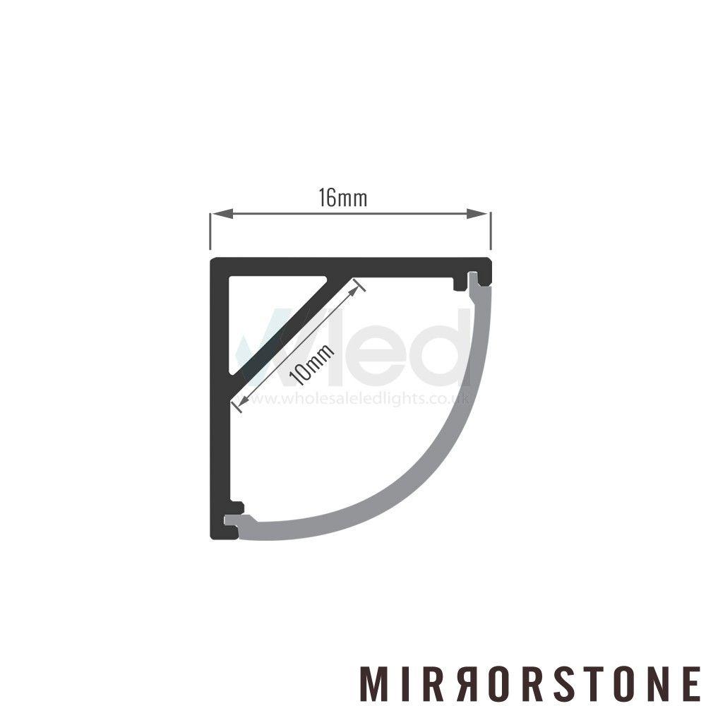 Slimpro 1m Corner Led Profile Extrusion Led Strip Lighting Led Strip Lighting