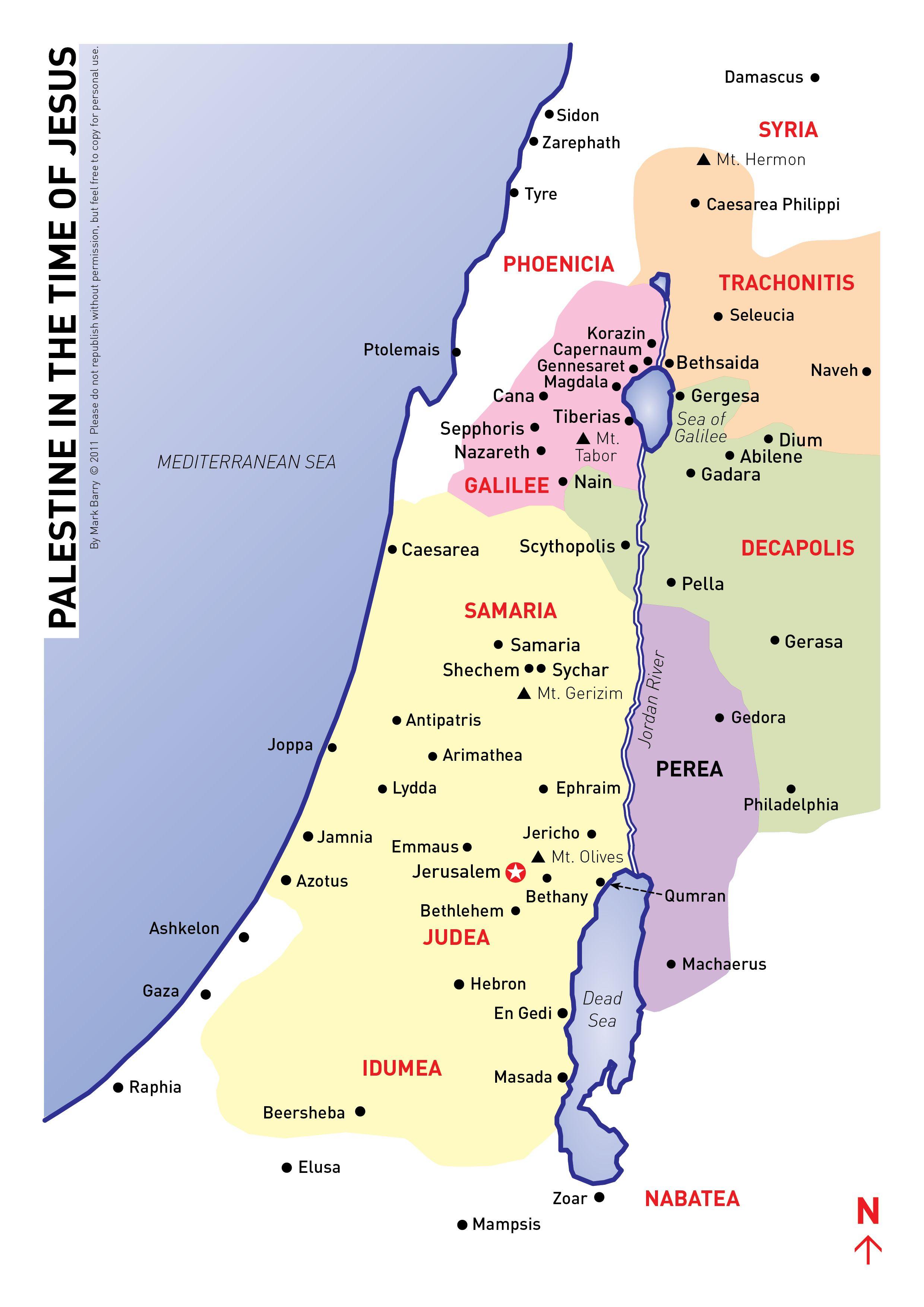 biblical map judea