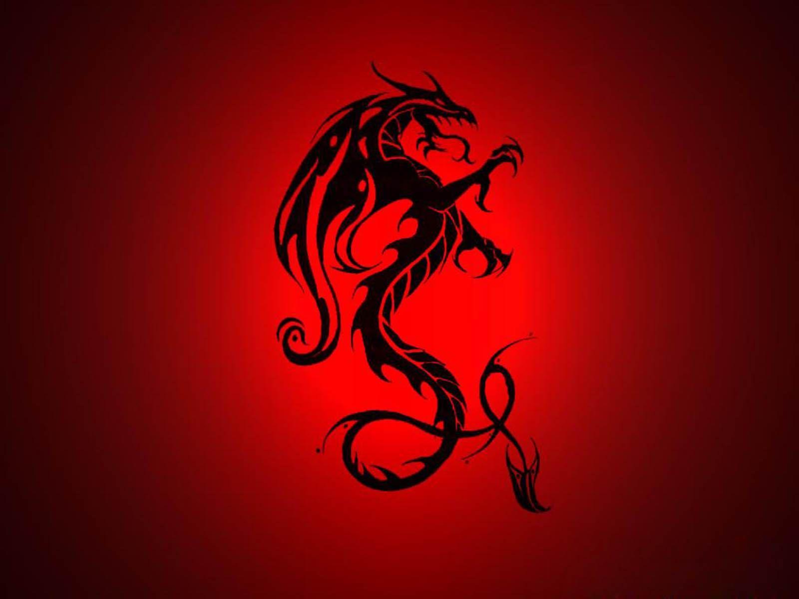 сайте картинка красного дракона на черном фоне самом деле исторических