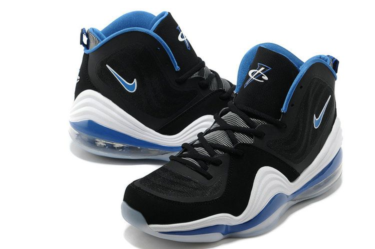 buy popular dd193 1958e Hardaway Penny shoes 2012-Air Penny 5 Orlando Grey Black Soar Blue White