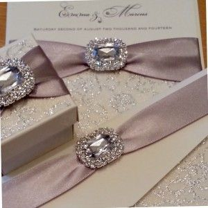 Elegant Wedding Invitations With Crystals Crystal Couture Stationery Norfolk Uk Award Winning