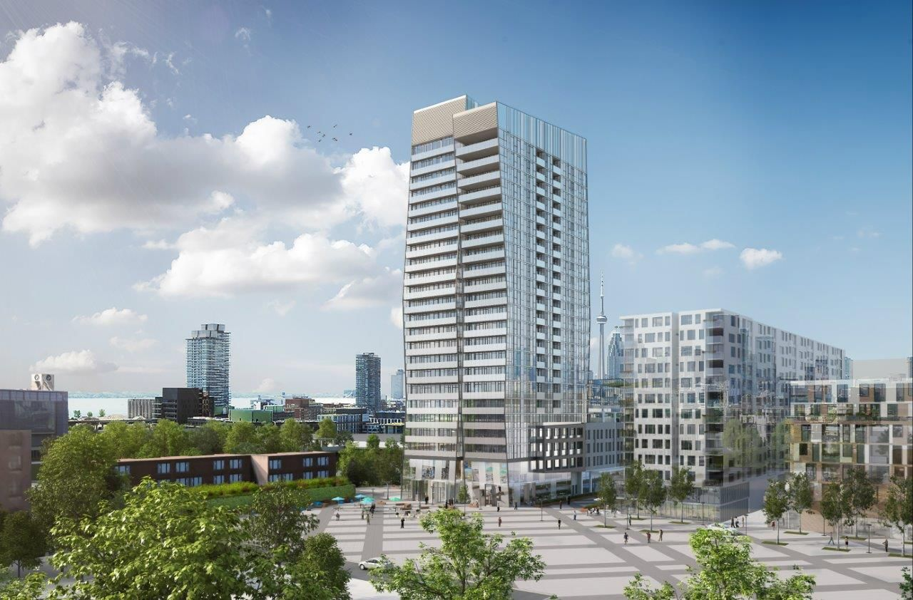 QUEEN STREET & BROADVIEW AVE  Riverside Square is a new condo project by Streetcar Developments currently in preconstruction at 677 Queen Street East in Toronto.  Scheduled to be completed in 2018.  Total of 252 units.  Sales start at $239,900.